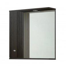 Verona Aquapure 1-Door LED Illuminated Mirrored Bathroom Cabinet 700mm H x 700mm W - Avola Grey