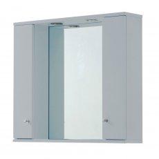 Verona Aquapure 2-Door LED Illuminated Mirrored Bathroom Cabinet 700mm H x 800 W - Pearl Grey