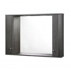 Verona Aquapure 2-Door LED Illuminated Mirrored Bathroom Cabinet 700mm H x 1000mm W - Avola Grey
