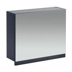Verona Aquatrend Gas-Lift Mirrored Bathroom Cabinet 450mm H x 500mm W - Matt Indigo