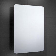 Verona Bramham 1-Door Mirrored Bathroom Cabinet 460mm Wide - Stainless Steel