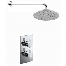 Verona Contour Dual Concealed Mixer Shower with Fixed Head
