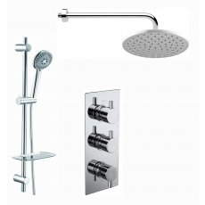 Verona Contour Triple Concealed Mixer Shower with Shower Kit + Fixed Head