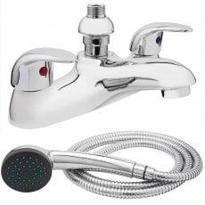 Verona Design Bath Shower Mixer Tap Deck Mounted Chrome