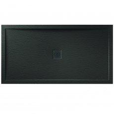 Verona Designer Stone Rectangular Shower Tray 1100mm x 800mm - Black Slate Effect