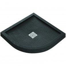 Verona Designer Stone Quadrant Shower Tray 900mm x 900mm - Black Slate Effect