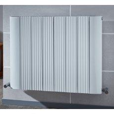 Verona Emme Designer Horizontal Radiator 600mm H x 560mm W White