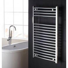 Verona Flat Designer Heated Towel Rail 825mm H x 600mm W Chrome