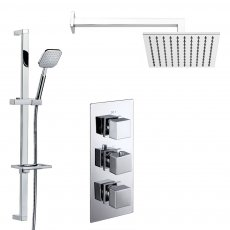 Verona Geo Triple Concealed Mixer Shower with Shower Kit + Fixed Head