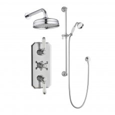 Verona Holborn Twin Concealed Mixer Shower with Shower Kit + Fixed Head - Chrome