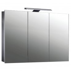 Verona Howden 3-Door Mirrored Bathroom Cabinet 1000mm Wide with LED Light and Shaver Socket