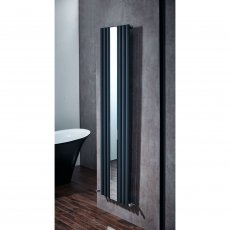 Verona Muse Designer Vertical Radiator with Mirror 1800mm H x 500mm W - Anthracite