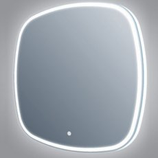 Verona Opel LED Bathroom Mirror 700mm H x 700mm W with Touch Sensor and Demister