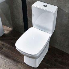 Verona Piccolo Close Coupled Toilet with Push Button Cistern - Soft Close Seat