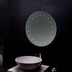 Verona Reflection Bathroom Mirror 500mm Diameter LED Illuminated
