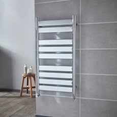 Verona Riva Designer Heated Towel Rail 950mm H x 500mm W - Chrome