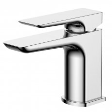Verona Sabre Basin Mixer Tap with Sprung Waste - Chrome