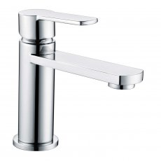 Verona Sereno Basin Mixer Tap with Sprung Waste - Chrome