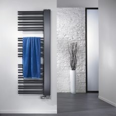 Verona Softcube Plus Heated Towel Rail 1210mm H x 610mm W - Anthracite Left Handed