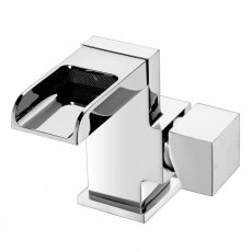 Verona Trac Waterfall Basin Mixer Tap with Sprung Waste - Chrome