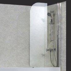 Verona Uno Round Top Bath Screen 1400mm High x 800mm Wide 6mm Glass