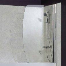 Verona Uno Sail Universal Bath Screen 1400mm H x 890mm W - 6mm Glass