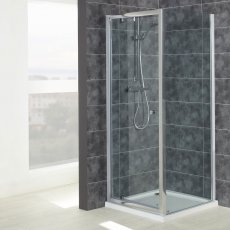 Verona Uno Pivot Shower Door with Tray 900mm x 900mm - 6mm Glass