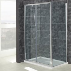 Verona Uno Sliding Shower Door 1100mm Wide - 6mm Glass