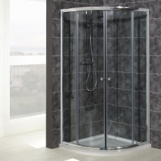 Verona Uno Offset Quadrant Shower Enclosure 1000mm x 800mm - 6mm Glass