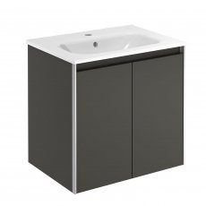 Verona Valencia 2 Door Wall Hung Vanity Unit with Basin 600mm Wide - Anthracite