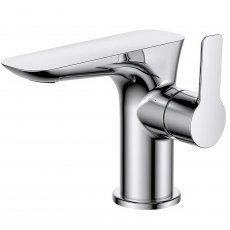 Verona Vido Mono Basin Mixer Tap with Sprung Waste - Chrome