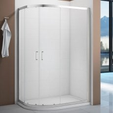 Verona Vivid Offset Quadrant Shower Enclosure 1000mm x 800mm with Shower Tray Left Handed