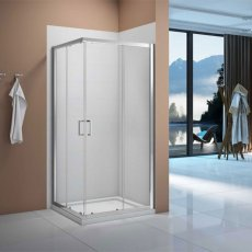 Verona Vivid Corner Entry Shower Enclosure 900mm x 900mm with Shower Tray - 6mm Clear Glass