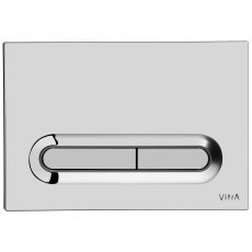 Vitra Loop T Mechanical Dual Flush Plate - High Gloss Chrome