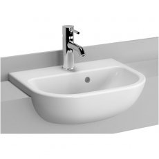 Vitra S20 Semi Recessed Basin 450mm Wide 1 Tap Hole