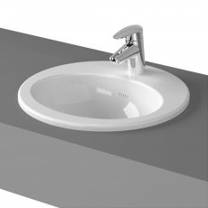 Vitra S20 Compact Countertop Basin with Front Overflow 430mm Wide - 1 Tap Hole