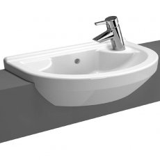 Vitra S50 Semi Recessed Basin Right Handed 550mm Wide 1 Tap Hole
