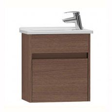 Vitra S50 Compact Vanity Unit with Basin 450mm Wide Oak 1 Tap Hole