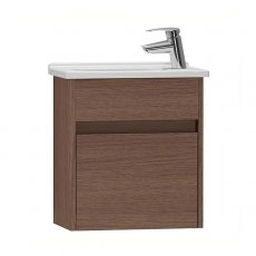 Vitra S50 Compact Vanity Unit with Basin 500mm Wide Oak 1 Tap Hole