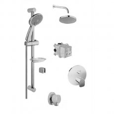 Vitra Suit Option 4 Concealed Mixer Shower with Shower Kit + Fixed Head