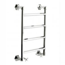 Vogue Art Moderne 4 Heated Towel Rail 836mm H x 550mm W Central Heating