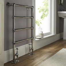 Vogue Ballerina BJ Traditional Heated Towel Rail 850mm H x 600mm W Electric