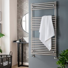 Vogue Stella Heated Towel Rail 1200mm H x 450mm W Dual Fuel