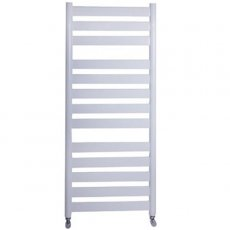 Vogue Vela Heated Towel Rail 950mm H x 500mm W Electric - White