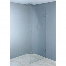 Wetroom Innovations Hinged Wet Room Screen 1990mm H x 400mm W - 8mm Glass