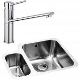 Abode Matrix 1.5 RH Bowl Kitchen Sink with Specto Sink Tap 572mm L x 450mm W - Stainless Steel