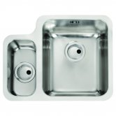 Abode Matrix R50 1.5 Right Handed Bowl Undermount Kitchen Sink 572mm L x 450mm W - Stainless Steel