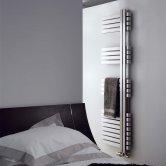 Aeon Combe Left Handed Designer Heated Towel Rail 1460mm H x 500 W - Brushed Matt