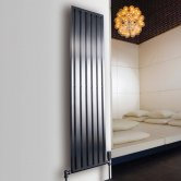 Aeon Supra Double Designer Vertical Radiator 1500mm H x 220mm W - Brushed Matt