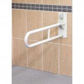 AKW 1800 Series Folding Support Grab Rail, 765mm Length, White